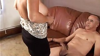 Gorgeous granny loves to fuck and eat cum
