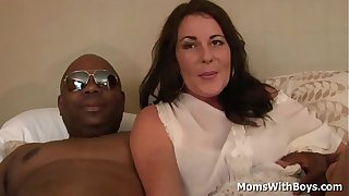 Milf Bella Roxxx having sex with a big black cock