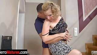 Lewd mature mom going for wild pounding with a student after wet oral foreplay
