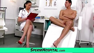 Czech milf doctor Renate mom with boy hospital sperm extraction