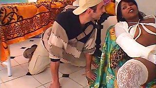 Hot brazilian babysitter banged hard by young boy!
