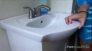 Son and hot blonde mom fucks in kitchen- Tucker Steven