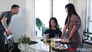 ASIAN MOM teaches daughter to FUCK AMERICAN BF