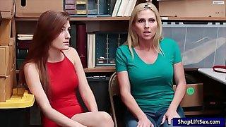 Teen suspect Nina Nirvana and huge juggs mom Christie Stevens were caught stealing