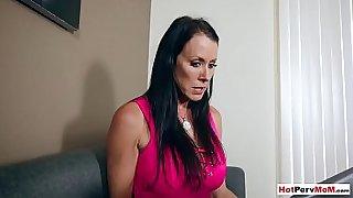 Classy matura mom sensual handjob to stepson