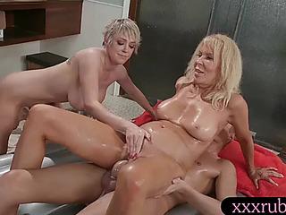 Stepmom and ally nuru massage